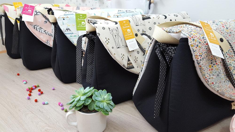 sacs à langer lilaxel pour plume et pompon