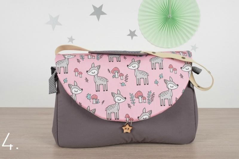 sac à langer - gris et bambi - www.lepetitmondedelilaxel.com