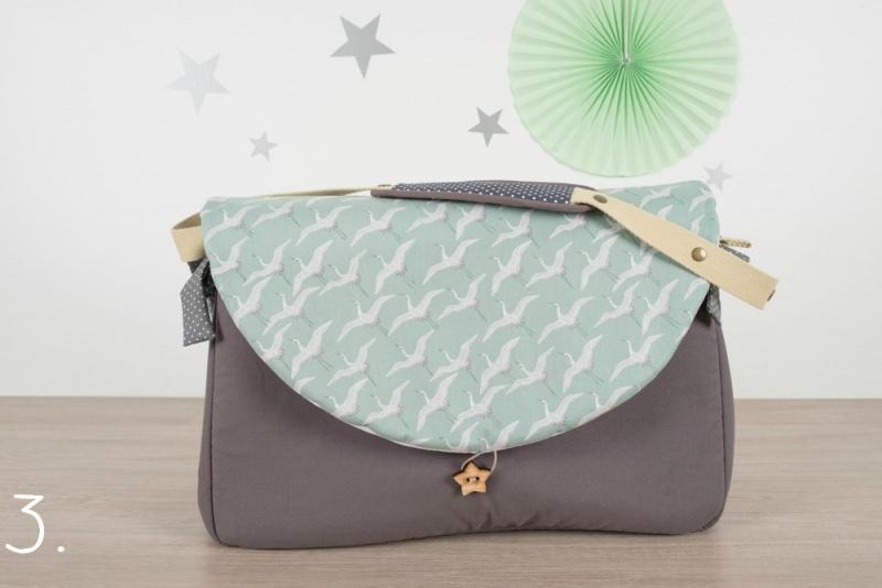 sac à langer - gris et grues - www.lepetitmondedelilaxel.com
