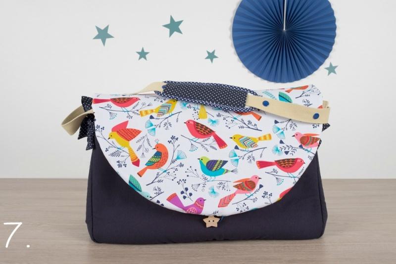 sac à langer - marine et oiseaux - www.lepetitmondedelilaxel.com