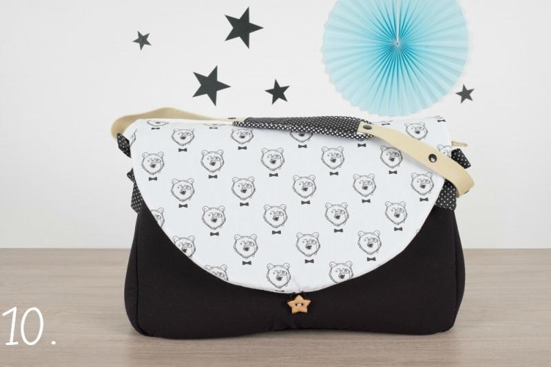 sac à langer - noir et oursons - www.lepetitmondedelilaxel.com