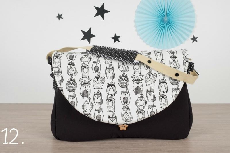 sac à langer - noir et ratoons - www.lepetitmondedelilaxel.com