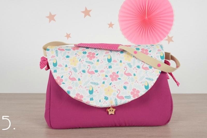 sac à langer - rose et flamingo toucans - www.lepetitmondedelilaxel.com