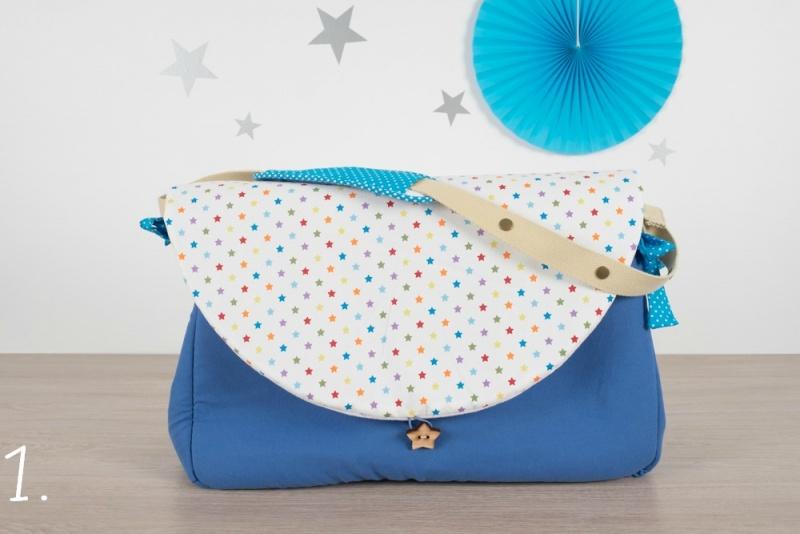 sac à langer - bleu et étoiles - www.lepetitmondedelilaxel.com