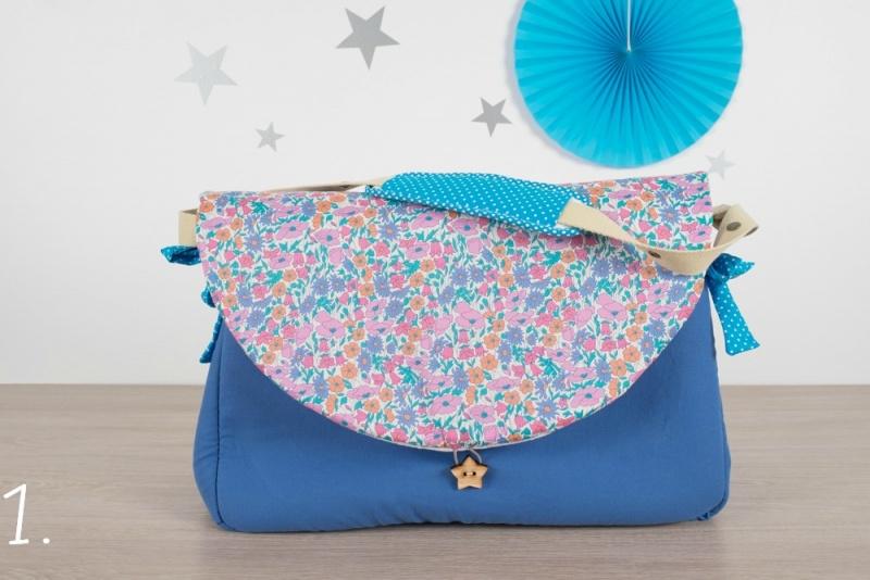 sac à langer - bleu et poppy and daisy - www.lepetitmondedelilaxel.com
