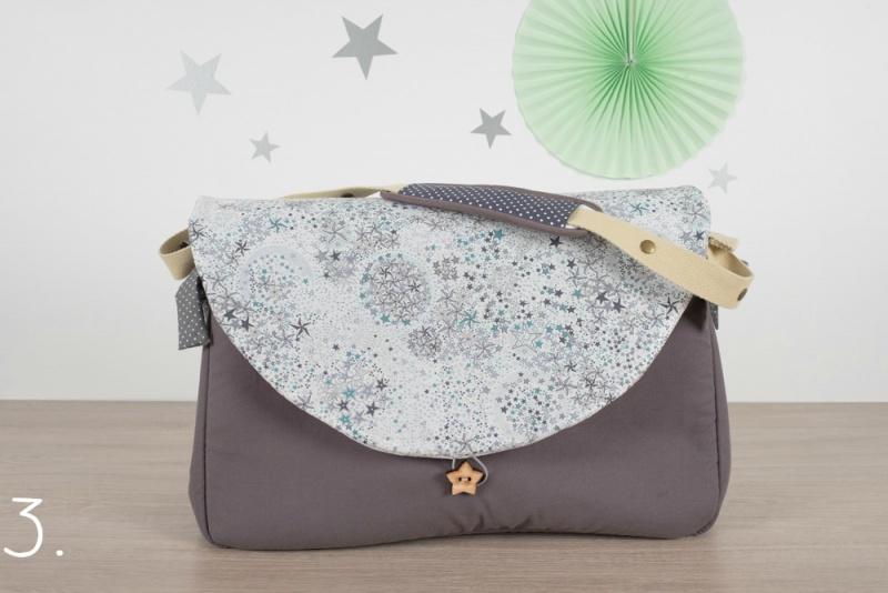 sac à langer - gris et adelajda silver - www.lepetitmondedelilaxel.com