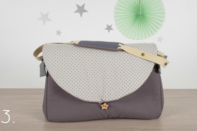 sac à langer - gris et petites étoiles - www.lepetitmondedelilaxel.com