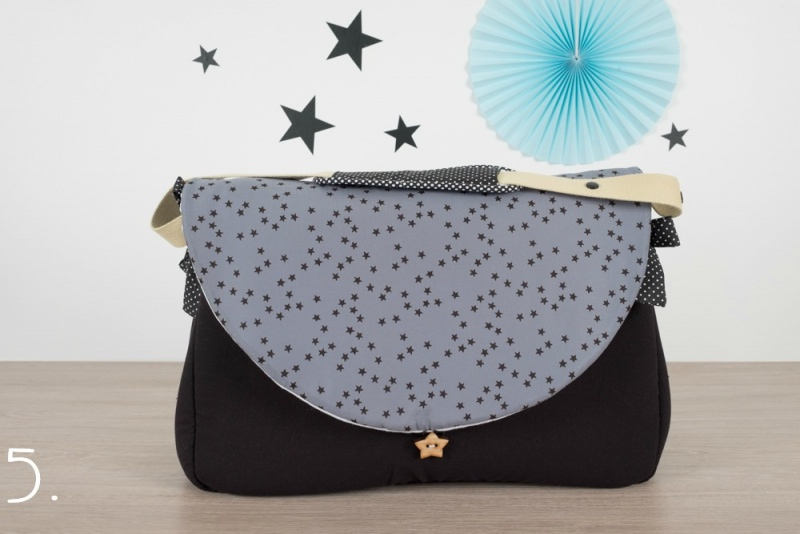 sac à langer - noir et étoiles noires - www.lepetitmondedelilaxel.com