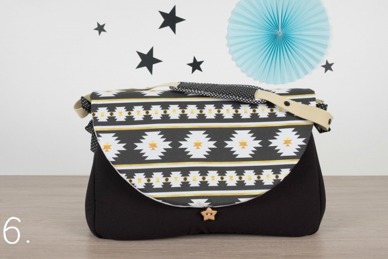 sac à langer - noir et navajo - www.lepetitmondedelilaxel.com