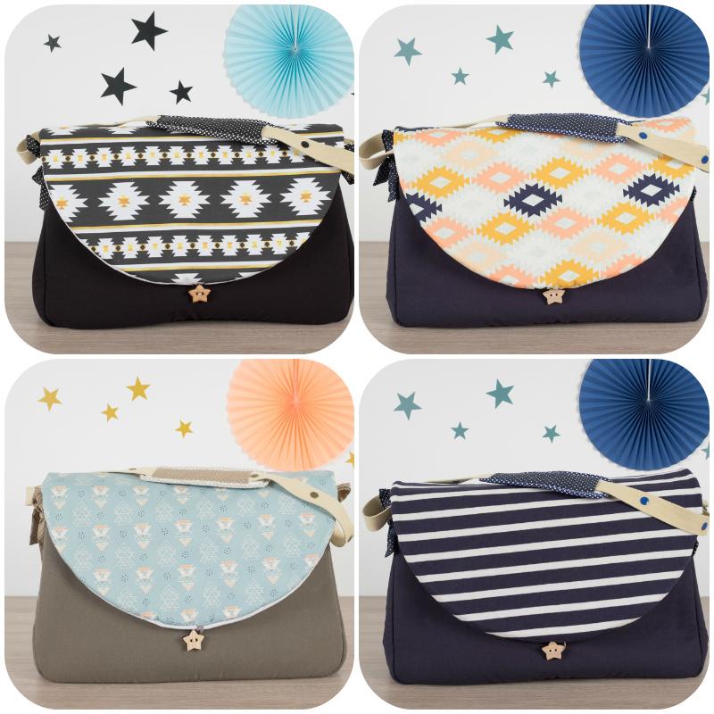 sac à langer géométrique lilaxel - www.lepetitmondedelilaxel.com