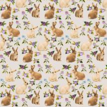 bunnies in the garden - thisleandfox
