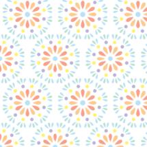 pastel geometric flowers - petits pixels