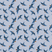 swallow bleu scattered on storm grey - thisleandfox
