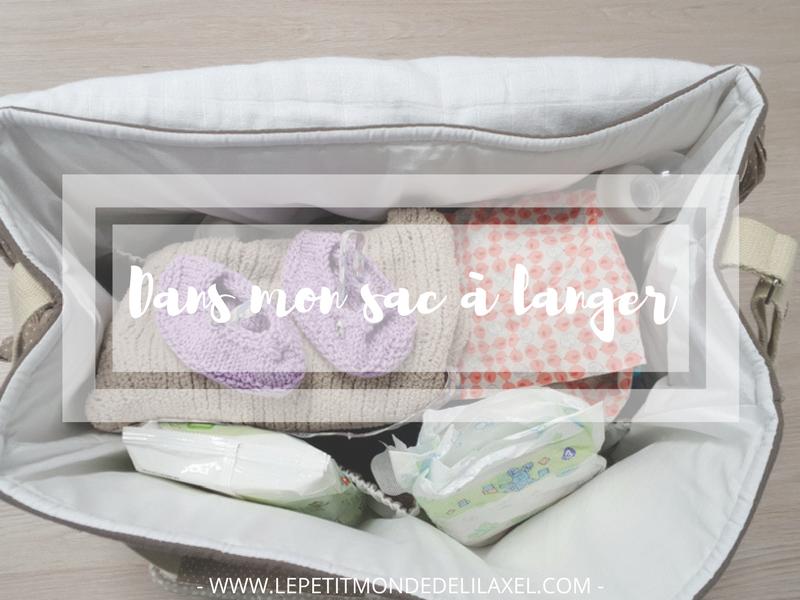 Dans le sac à langer, on peut mettre…