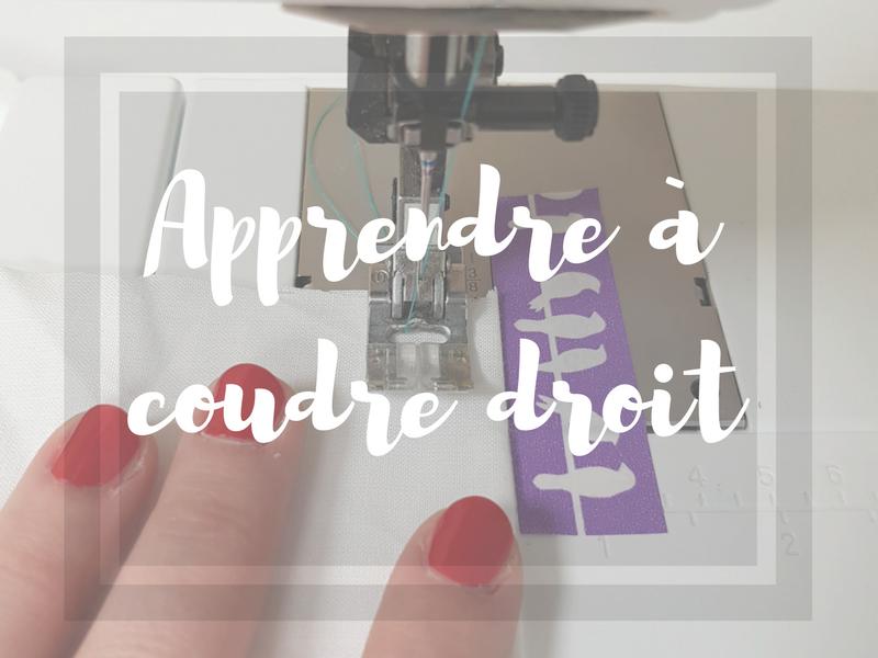 Débuter en couture – coudre droit