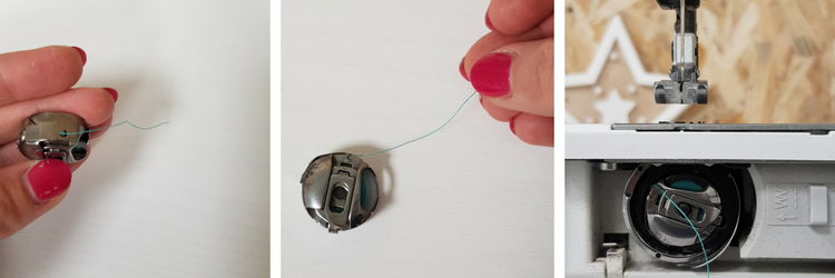 insérer canette de fil machine à coudre - lilaxel