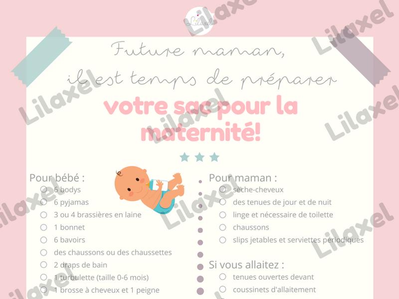 la liste pour la maternité - lilaxel