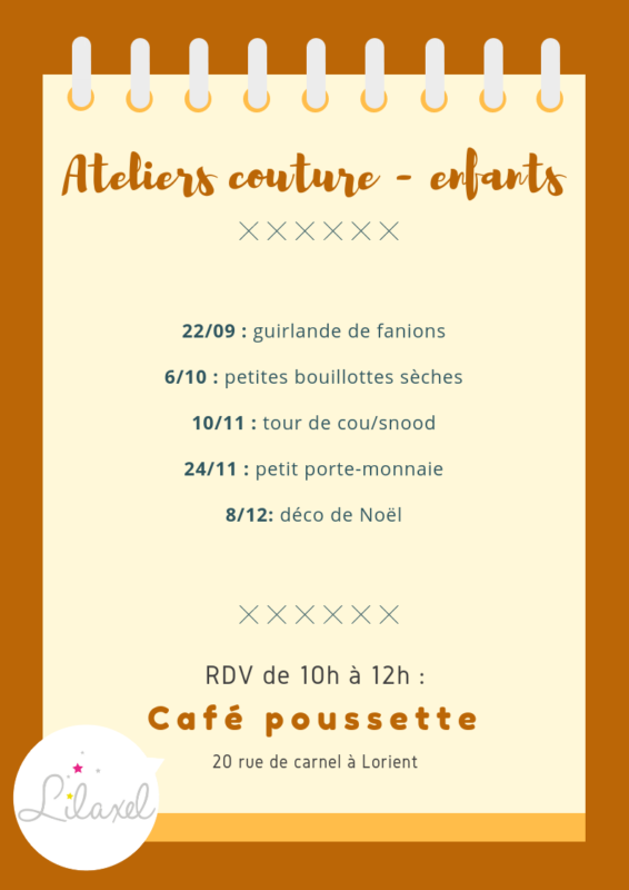 ateliers couture lilaxel 2018 - enfants