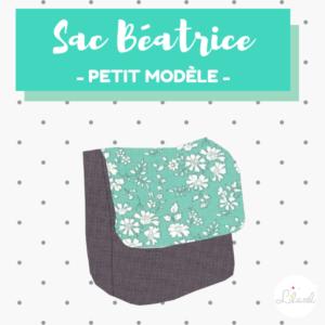 Sac Béatrice petit modèle - liberty capel turquoise - lilaxel