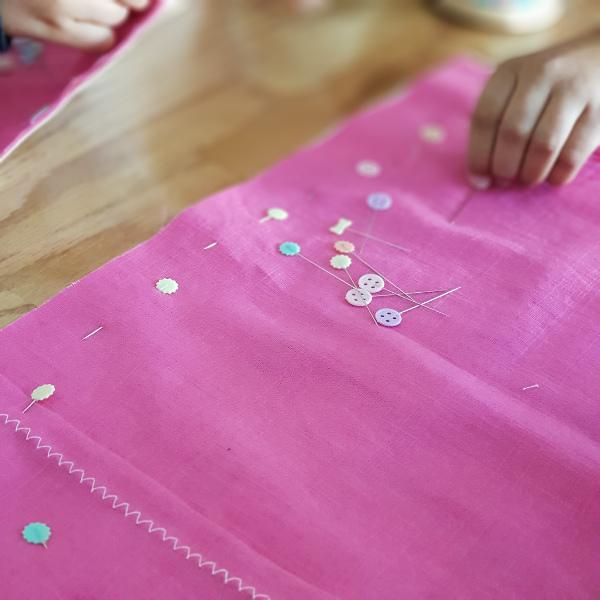 atelier couture pour enfants lorient - housse de coussin licorne lilaxel