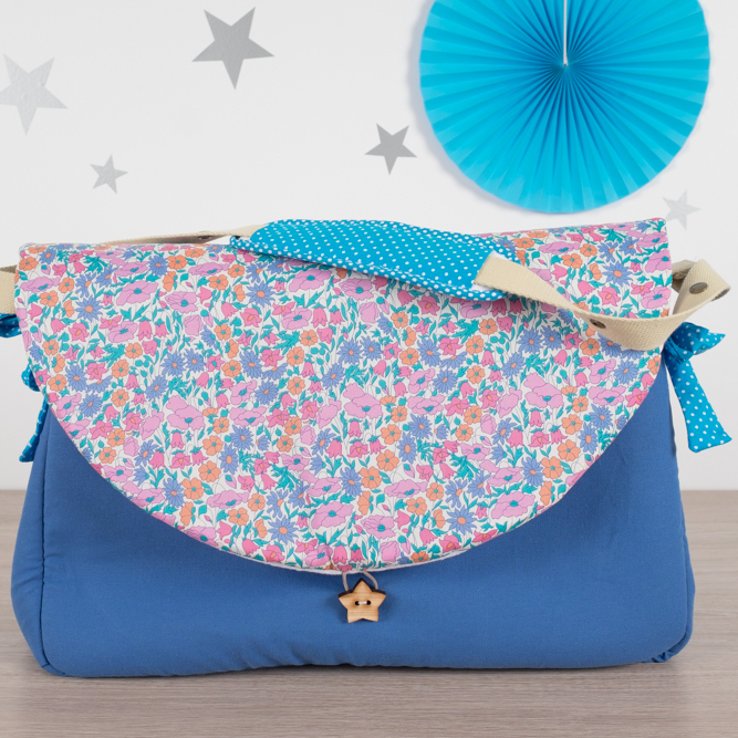 sac à langer liberty poppy and daisy - lilaxel capucine