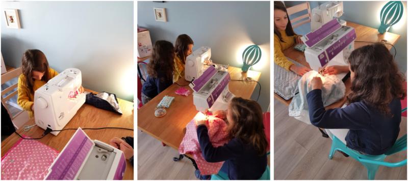 atelier couture snood - machine à coudre