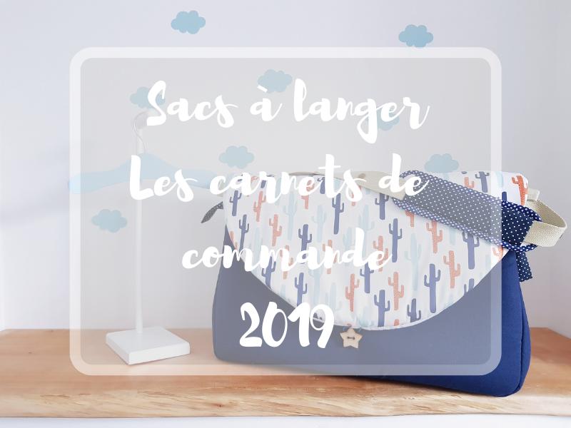 Sacs à langer – les carnets de commande 2019