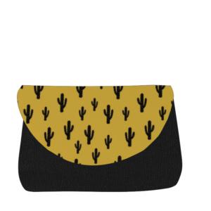 sac à langer noir et cactus moutarde