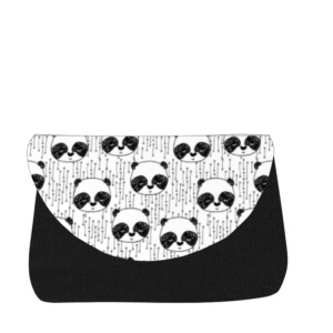 sac à langer noir et pandas