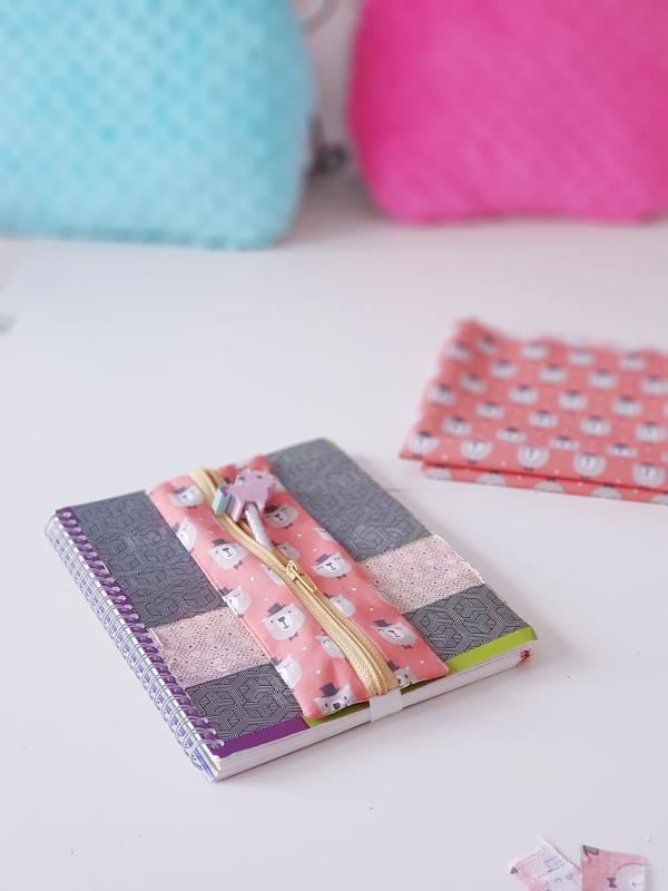 tuto couture lilaxel - trousse bujo cahier de textes agenda