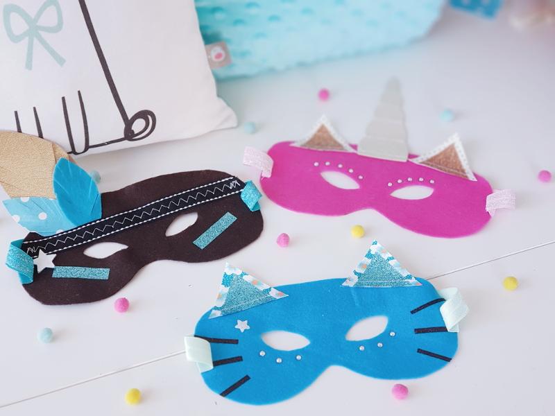 atelier couture enfant à lorient - masque carnaval - lilaxel
