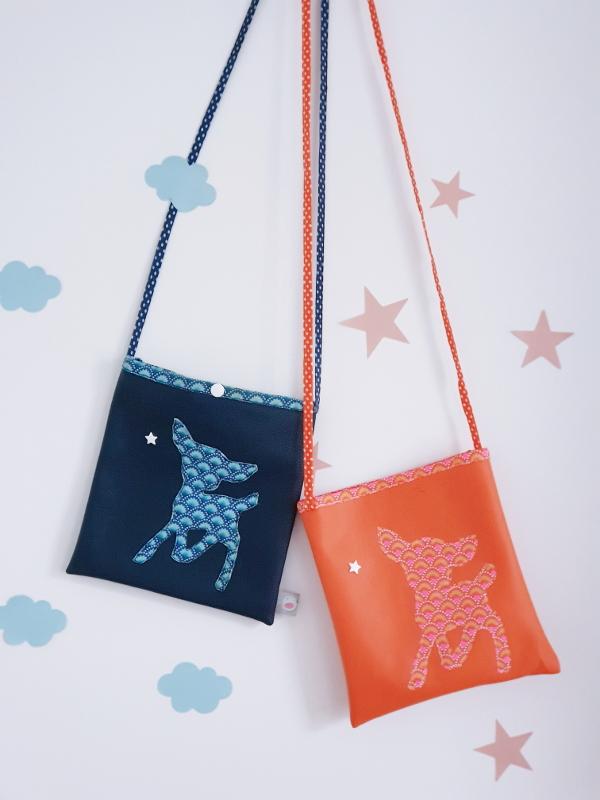 atelier couture enfant à lorient avec Lilaxel - petit sac bandoulière bambi