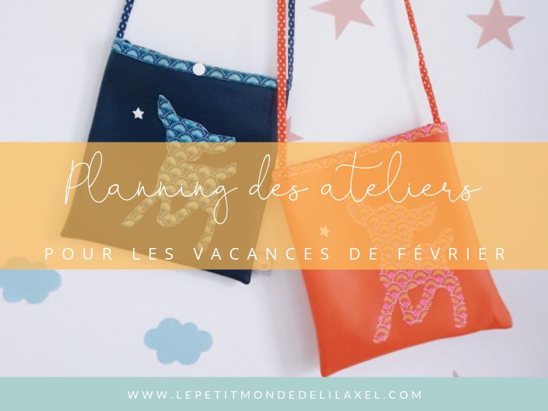 Le planning des ateliers couture pendant les vacances de février