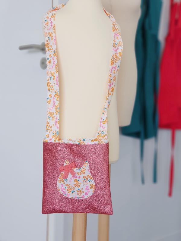 atelier couturepour enfant - la pochette à paillettes - papa ours et lilaxel