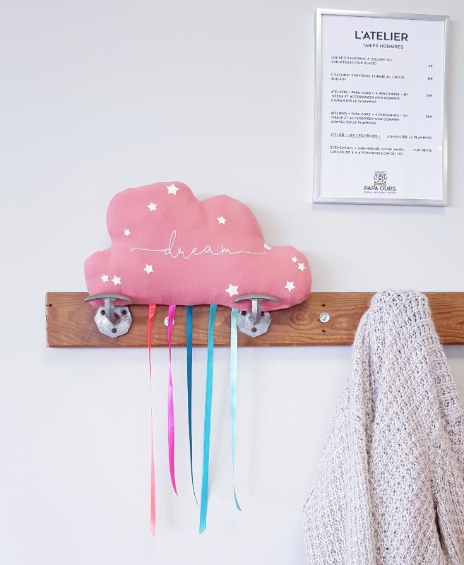 atelier couture enfant lilaxel chez papa ours - caudan - le coussin veilleuse