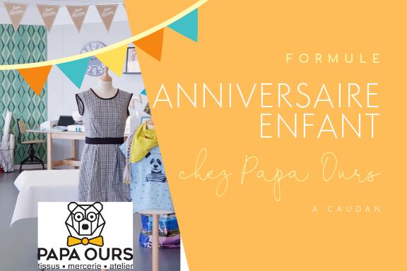 Formule atelier couture enfant anniversaire - papa ours lilaxel lorient caudan