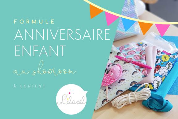 Formule atelier couture enfant anniversaire - showroom lorient