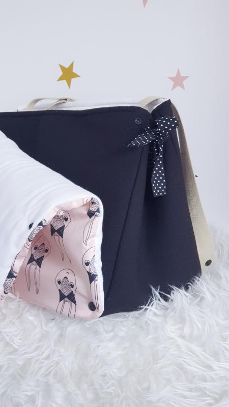 le sac à langer lilaxel et son rabat détachable